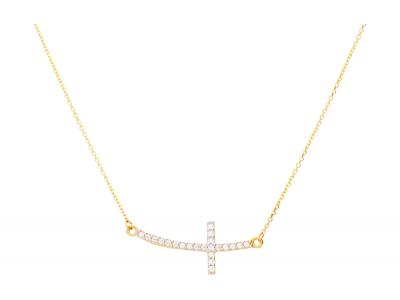 Lant cu pandntiv cruciulita bijuterii aur 14k