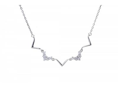 Lant  tip choker cu pandantiv bijuterii argint