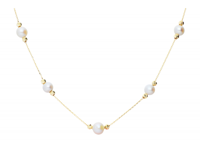 Lantisor aur 14K perle