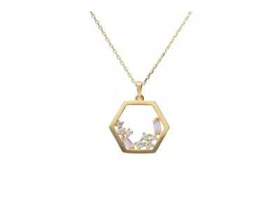 Lantisor cu pandantiv bijuterii aur 14k