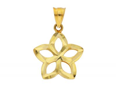 Medalioane din aur 14K galben floricica
