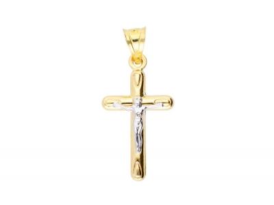 Medalion aur 14k cruciulita cu Iisus