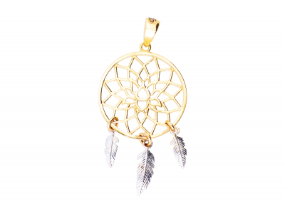 Medalion aur 14K dream catcher