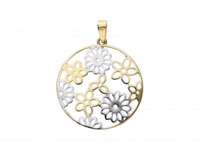 Medalion aur 14K floricele