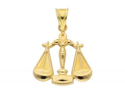 Medalion aur 14K galben balanta zodie