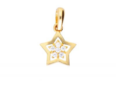 Medalion aur 14K steluta