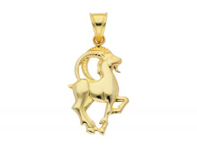 Medalion din aur 14K galben capricorn zodie