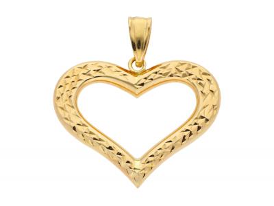 Medalion din aur 14K inimioara