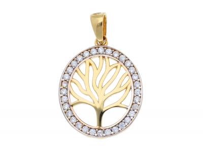 Medalion din aur 14K pomul vietii