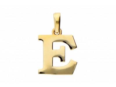 Pandant 14K initiala E