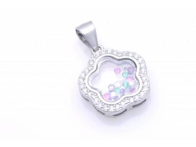 Pandant argint 925  cu pietre colorate