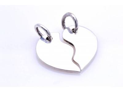 Pandant argint 925 Inimioare Best friends/Love forever