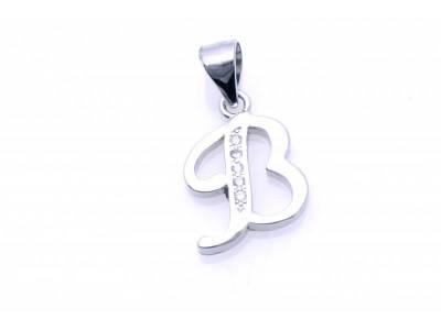 Pandant argint initiala B