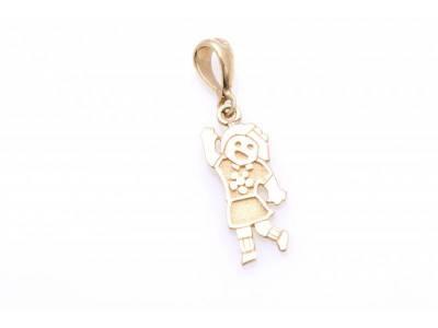 Pandant aur 14K cadouri bijuterii fetita