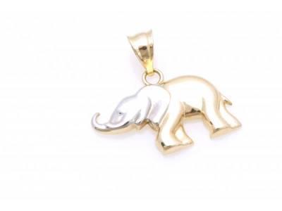 Pandant aur 14K elefant norocos