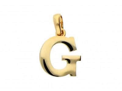 Pandant aur 14K initiala G