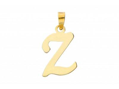 Pandant aur 14K initiala Z