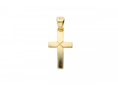 Pandant cruce aur 14K bijuterii