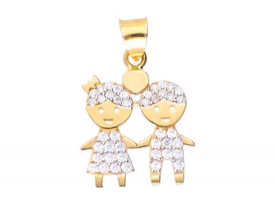 Pandantiv aur 14K baietel fetita