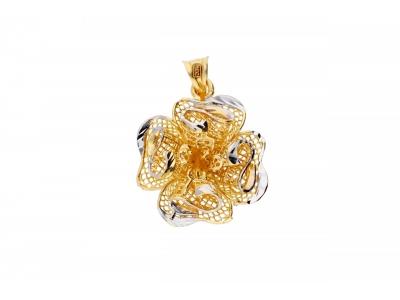 Pandantiv aur 14K floricica filigran