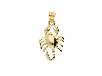 Pandantiv aur 14K zodie scorpion