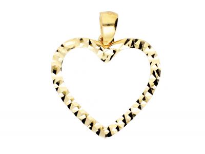 Pandantiv contur inimioara bijuterii aur cadou