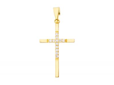 Pandantiv cruciulita aur galben bijuterii online