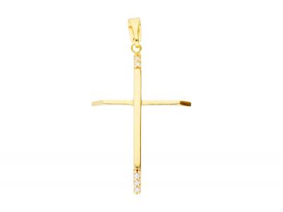 Pandantiv cruciulita bijuterii aur