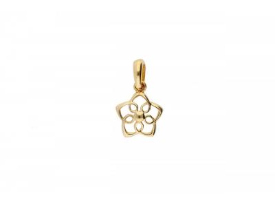 Pandantiv floricica bijuterii aur 14k