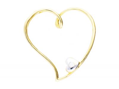 Pandantiv inimioara aur 14k bijuterii deosebite