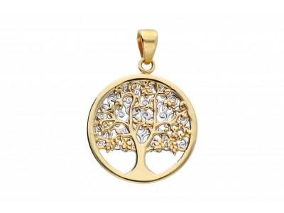 Pandantiv pomul vietii doua fete aur 14K