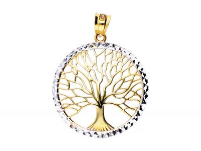 Pandantiv pomul vietii din aur 14k