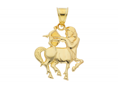 Pandantive din aur 14K galben sagetator zodie