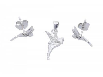 Set argint 925 cercei si pandant Clopotica