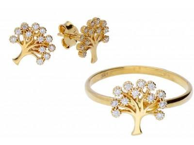 Set aur 14 k bijuterii deosebite pomul vietii