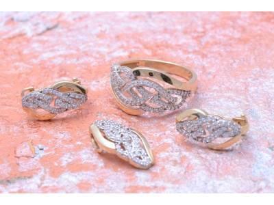 Set aur bijuterii 14k cu zirconii