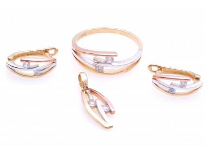 Set aur inel,cercei,pandant cu zirconii cadouri bijuterii