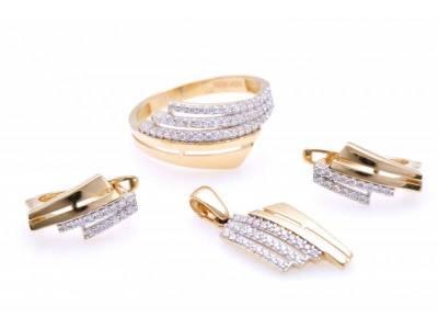 Set aur 14K inel, cercei, pandant bijuterii online