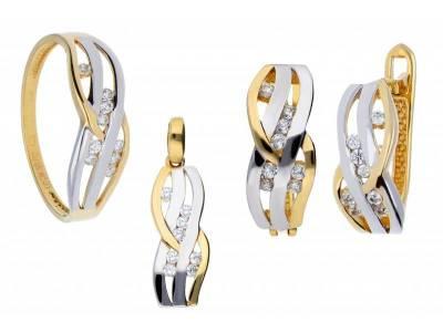 Set aur inel,cercei,pandant cu zirconii cadouri bijuterii deosebite