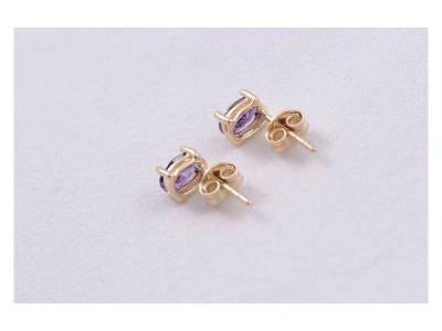 Set bijuterii aur 14 k zirconii colorate